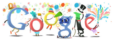 google doodle bonne année 2012 bis