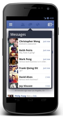 screenshot nouvelle application facebook 2