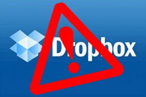 warning logo on dropbox one